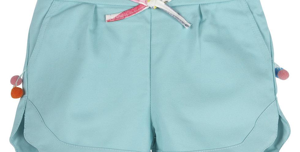 Aqua Pom Pom Shorts