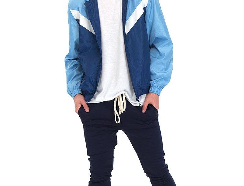 NYLON TRACK JACKET- BLUE