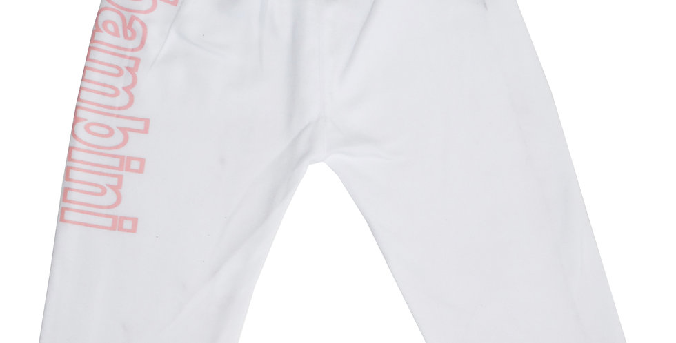 Girls White Pants with Print