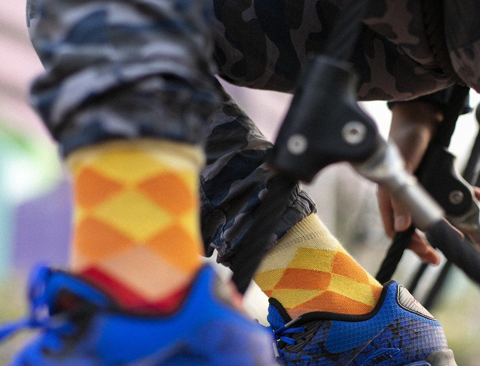 Kids Faded Diamonds Socks