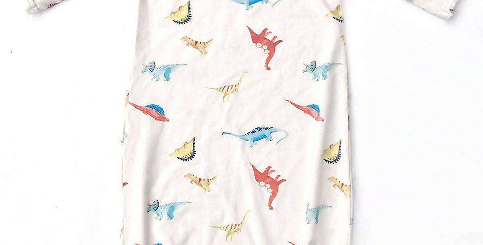 Dinos Baby Bamboo Knotted Gown -