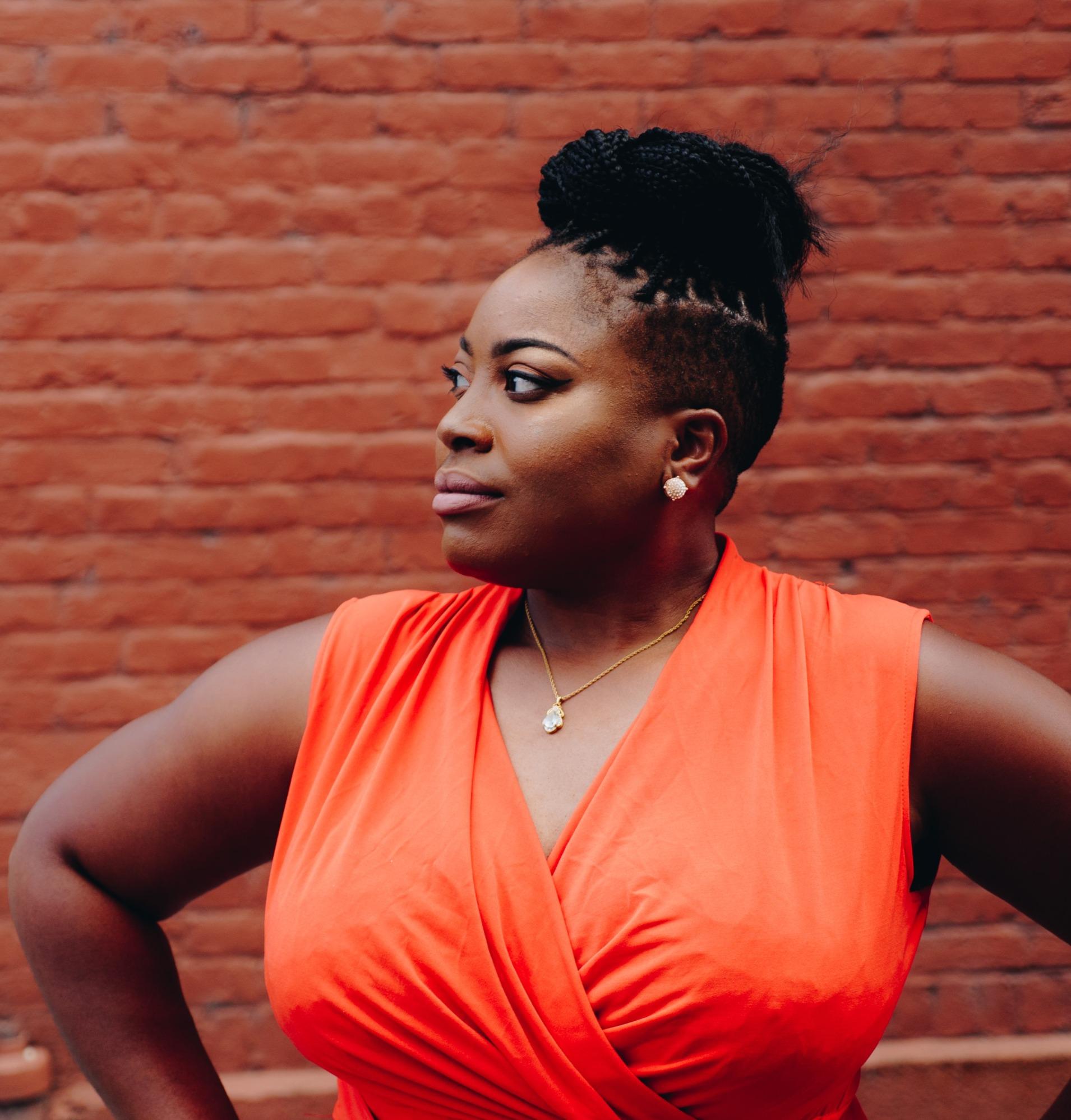 Black lady posing