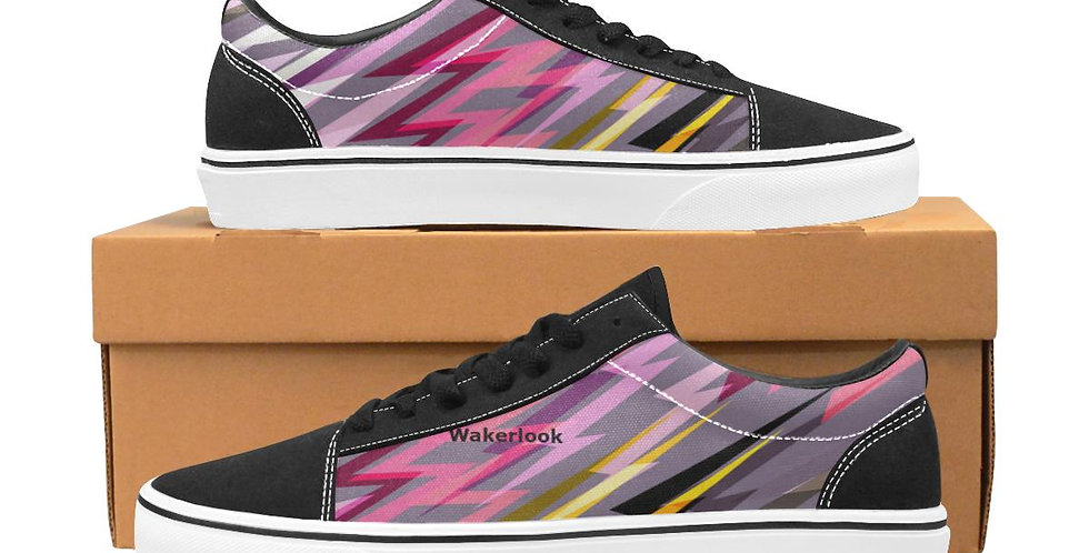 Women's Pink Lace-Up Canvas Wakerlook Shoes