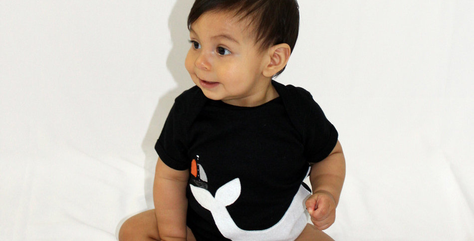 Baby Onesie - Big Whale and Little Sailboat