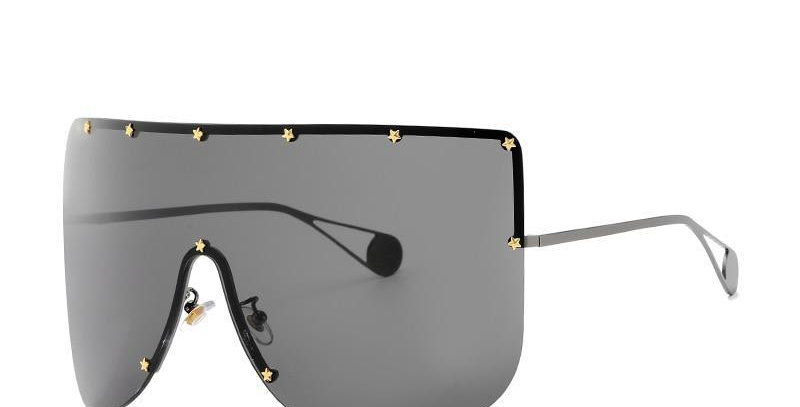 Elaiza Oversized Sunglasses - Gun Gray