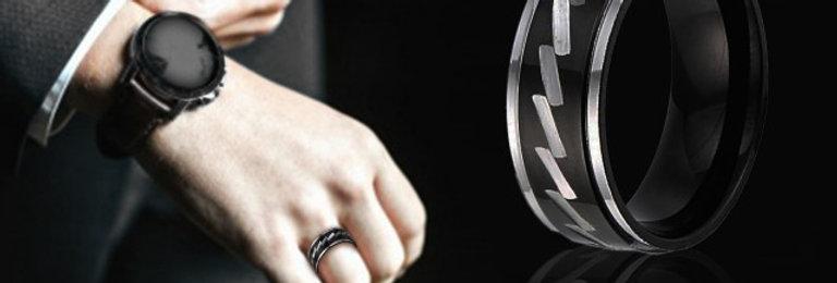 Men's Stainless Steel Engagement Ring