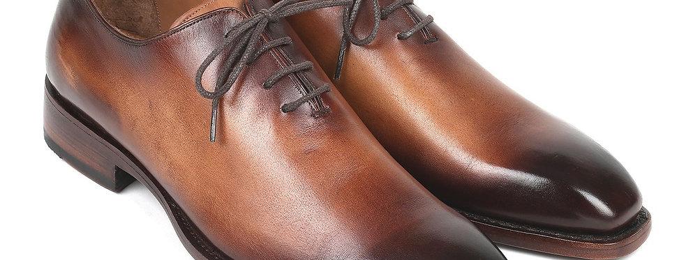 Paul Parkman Men's Wholecut Oxfords Brown Leather (ID#3222-BRW)