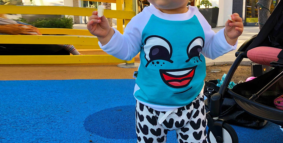 Raglan Sweatshirt - Happy Face