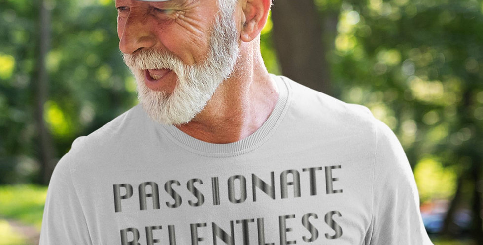 65 McMlxv Men's Passionate Relentless Determined Graphic T-Shirt