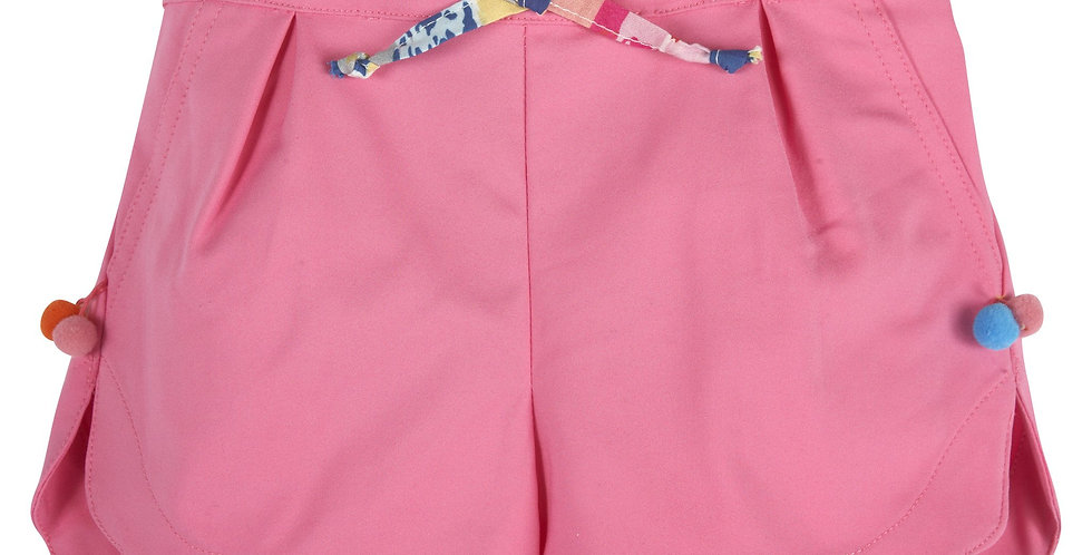 Pink PomPom Shorts