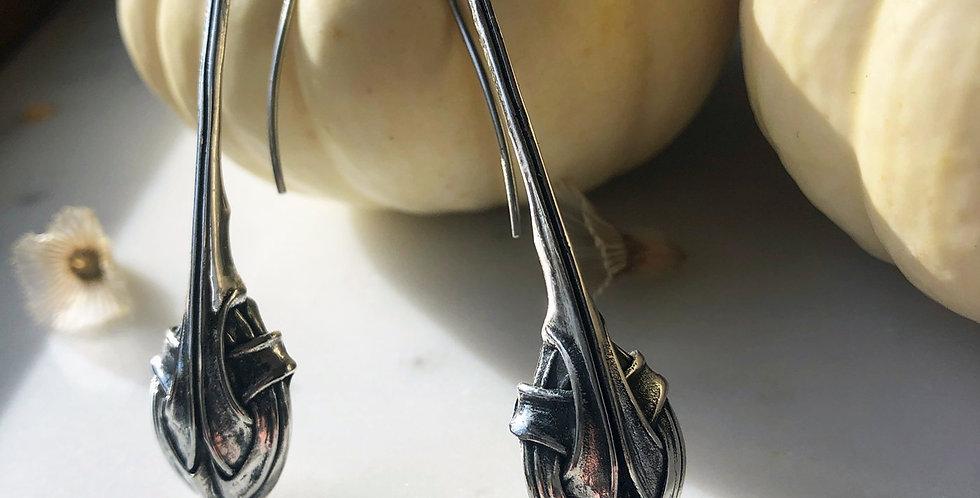 Clove Silver Drop Earrings