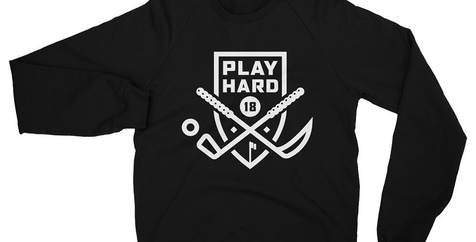 Play Hard - Unisex California Fleece Raglan Sweatshirt