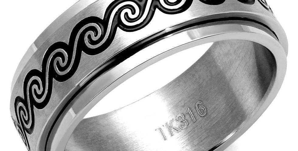 Men Stainless Steel Epoxy Rings TK2930