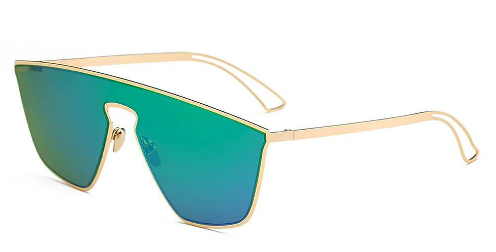 BEVERLY | S2030 - Women Square Futuristic Flat Lens Sunglasses