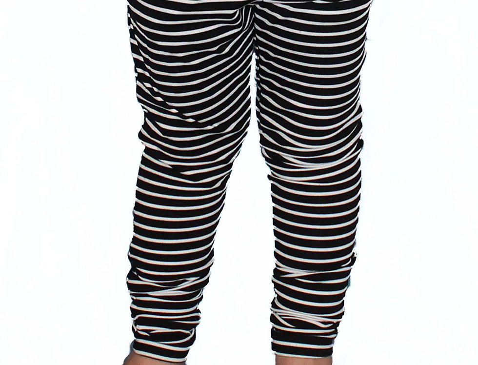Lightweight Fitted Stripe - Pocket Joggers - Kids
