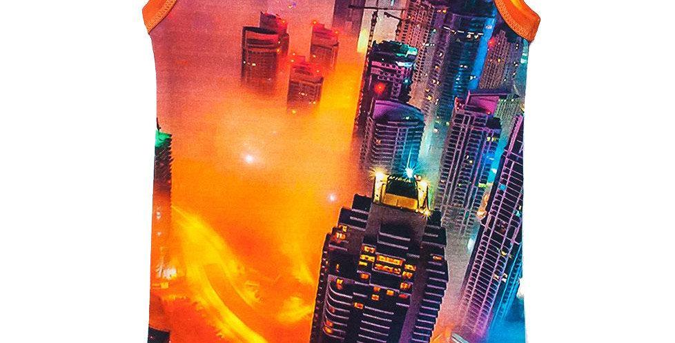 Bodysuit - Sleeveless - Dubai Fog