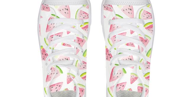 Watermelon Kids Hightop Canvas Shoe
