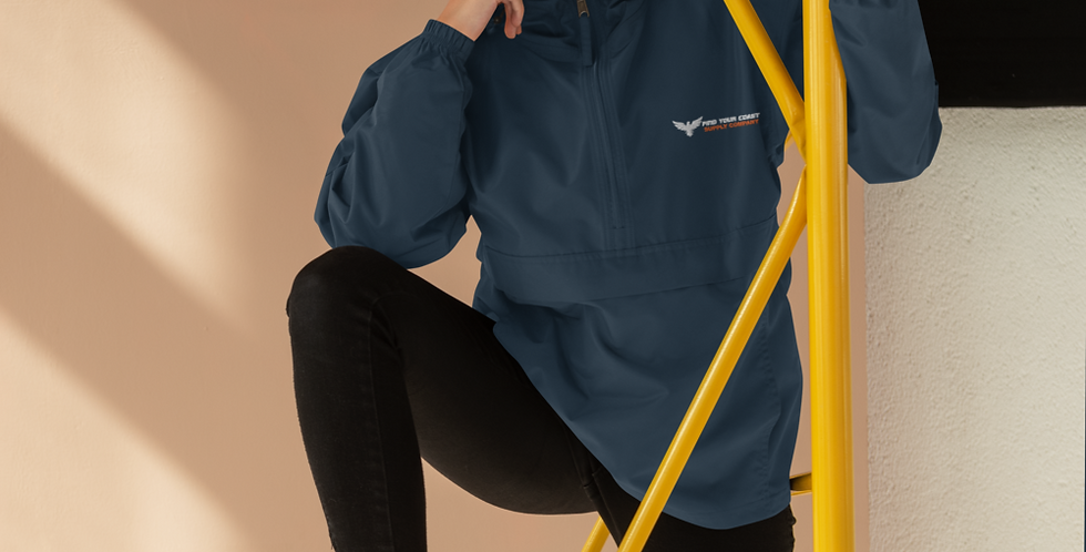 Find Your Coast Embroidered Waterproof Packable Champion Jacket