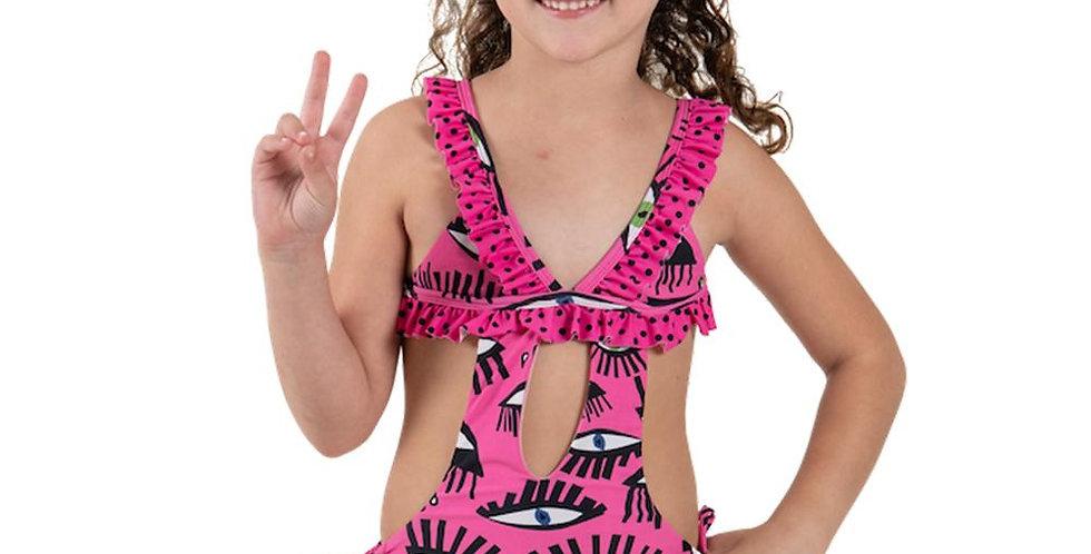 Fucsia Eyes - Trikini - Kids Swimwear