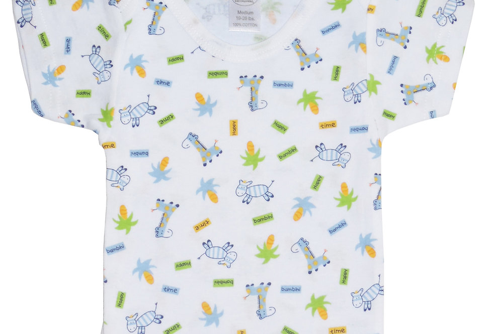 Bambini Printed Boys Short Sleeve Variety Pack