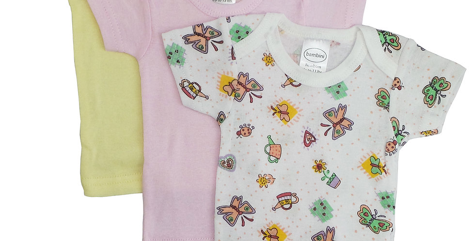 Bambini Girls Printed Short Sleeve Variety Pack