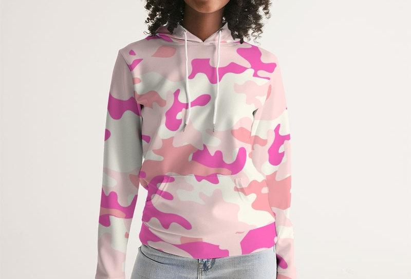 Pink Camo Cancer Awareness Hoodie