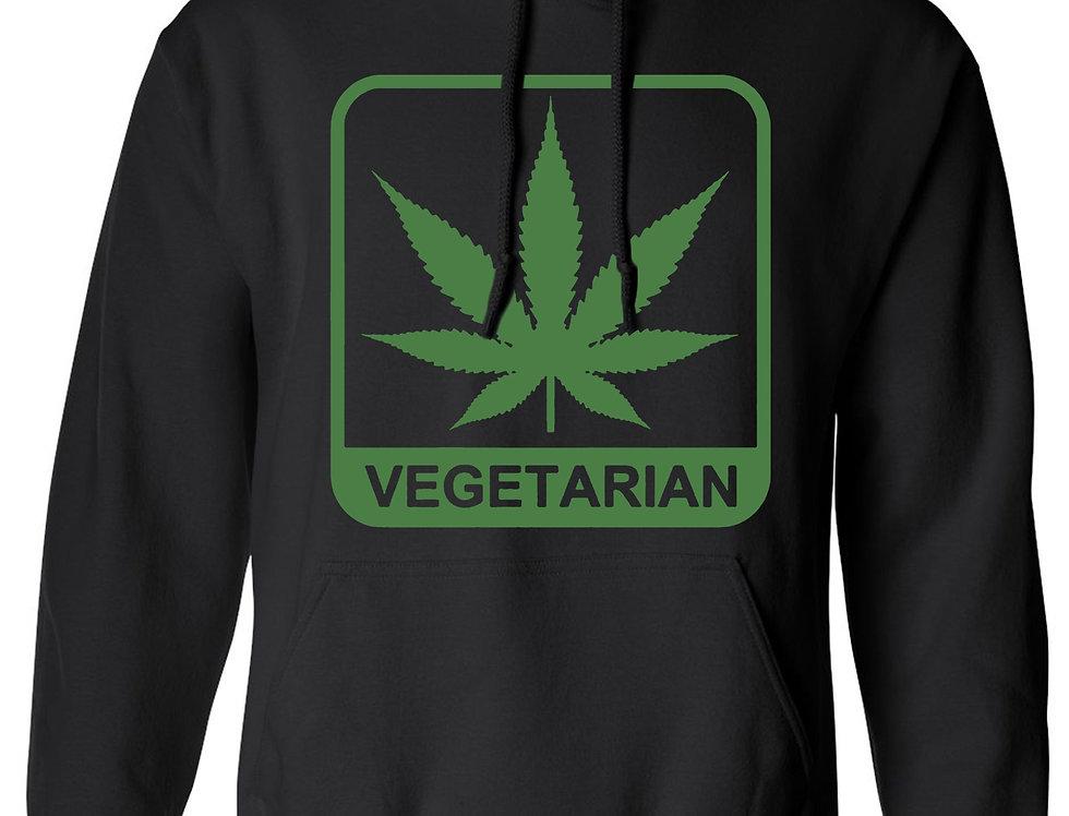 """Men's/Unisex Pullover Hoodie """"Vegetarian"""""""