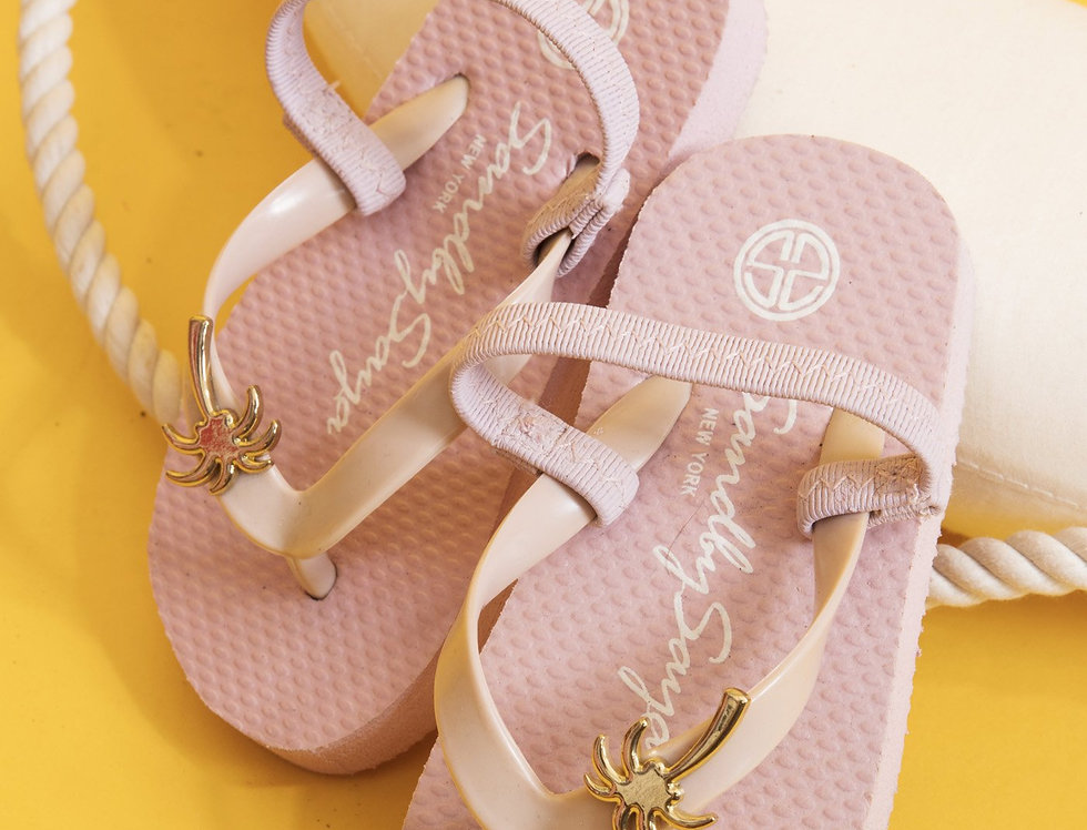 Gold Palm Tree - Baby / Kids Sandal