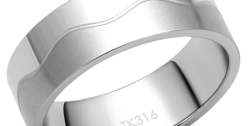 Men Stainless Steel No Stone Rings TK2918