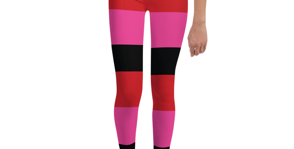 Riviera Stripe Hot Pink Girl's Leggings