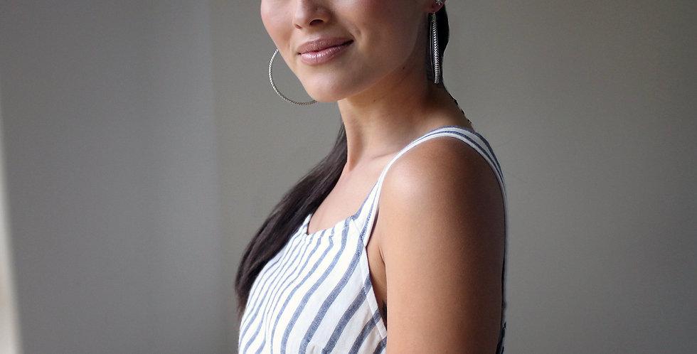 Anacita Braided Silver Hoop Earrings