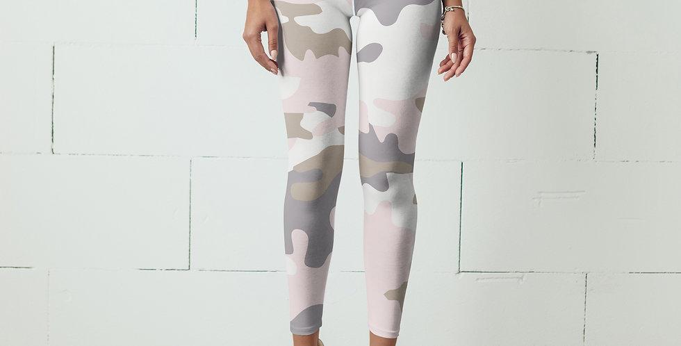 Pink Camo Leggings, Capris, Shorts