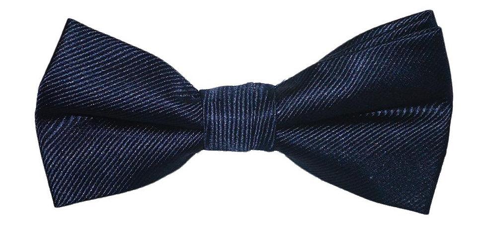 Solid Color Bow Tie - Navy, Woven Silk, Kids Pre-Tied