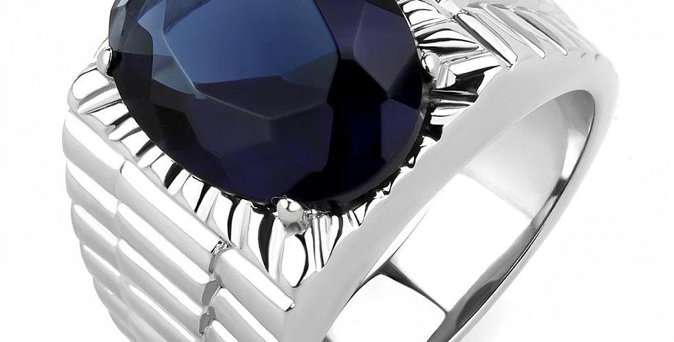Men Stainless Steel Synthetic Glass Rings TK3461