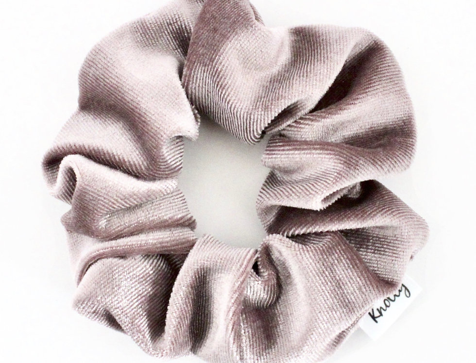 Crushed Velvet Hair Scrunchie, Mauve
