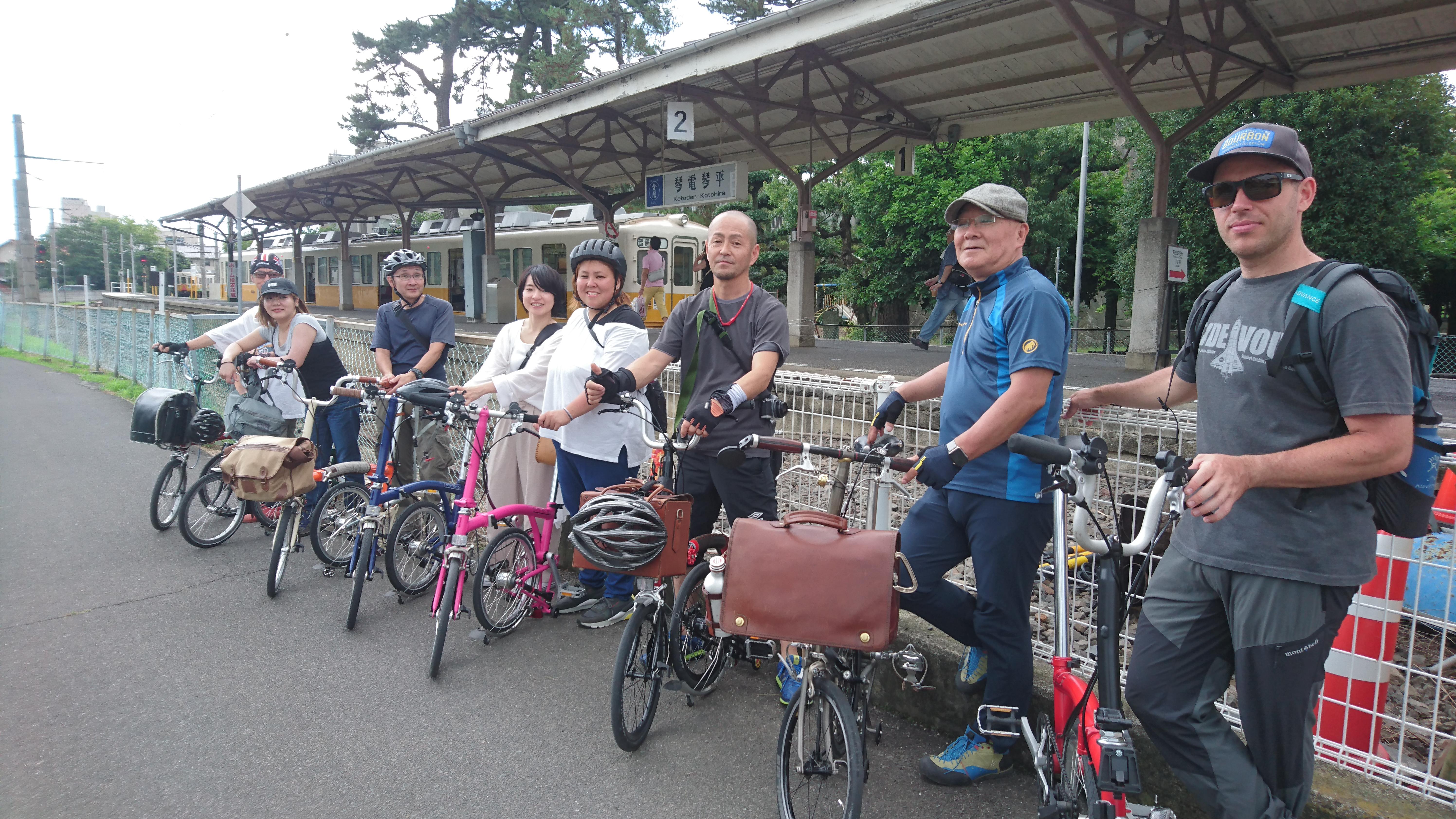 琴電の琴平駅にて。かつては金毘羅参りのため、四路線が入っていた。