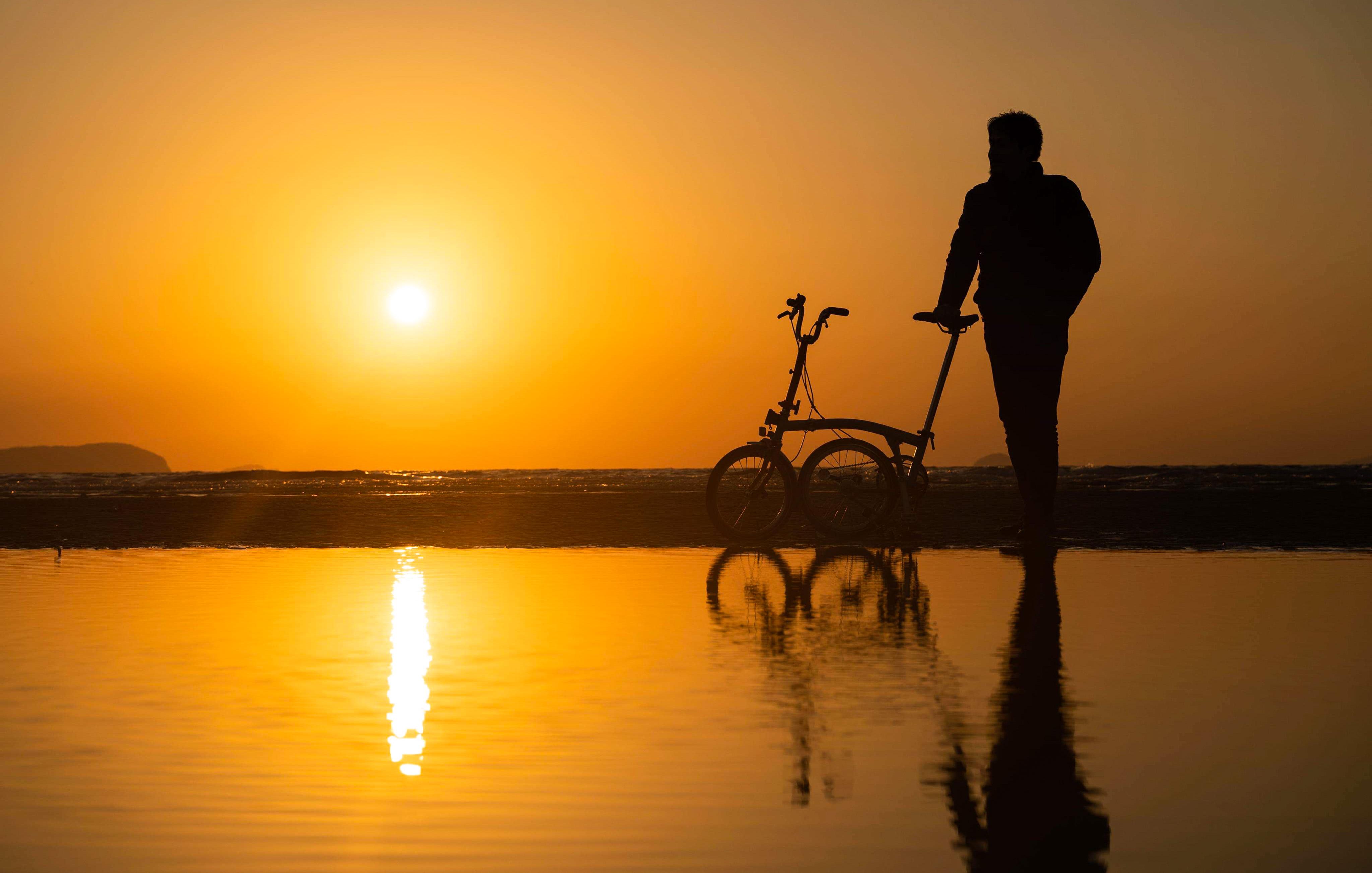 夕陽の父母ヶ浜。
