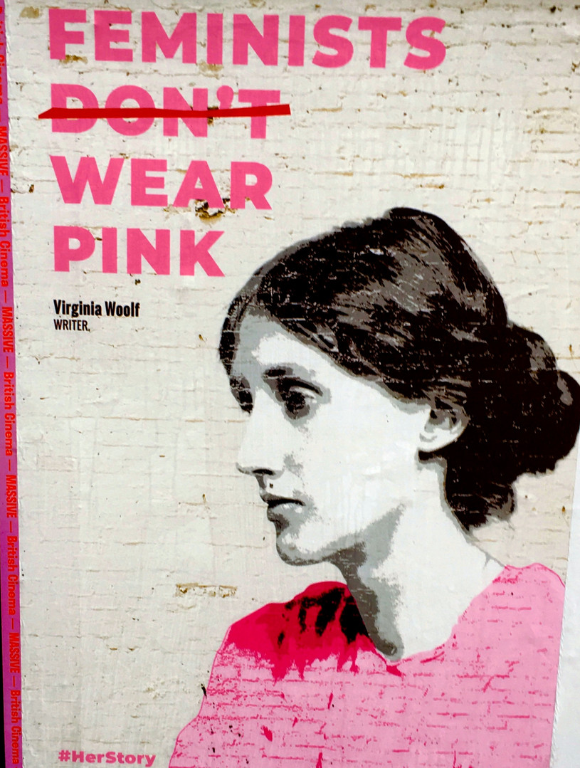 Virginia Woolf Poster, Farringdon - Femi