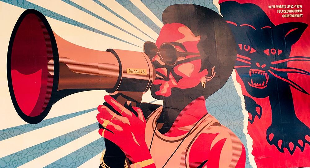 Olive Morris British Black Panther Poster