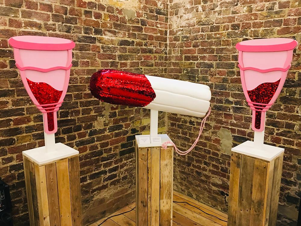vagina museum tampon menstrual cup exhibition camden london