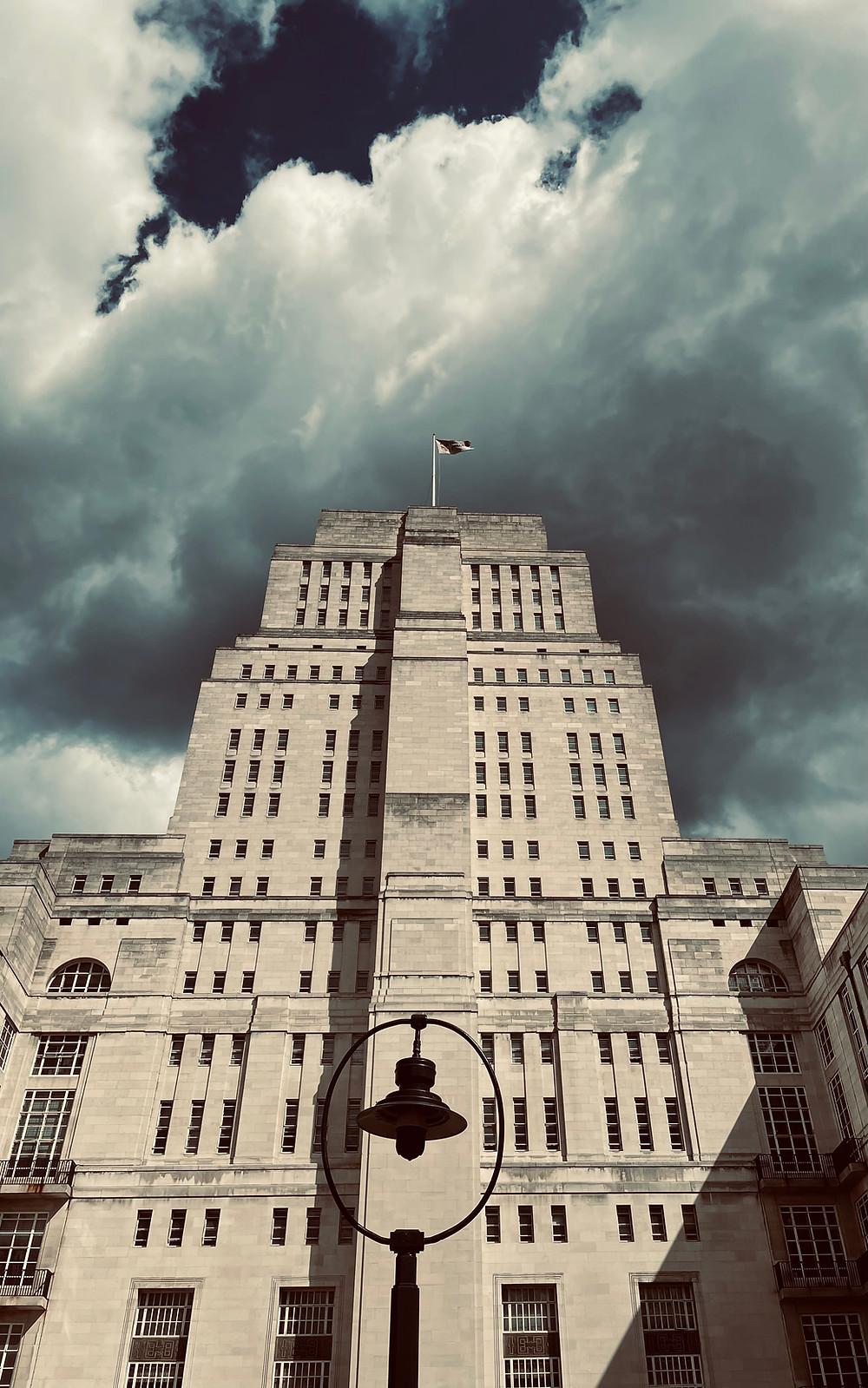 Senate House Moody Sky Bloomsbury London
