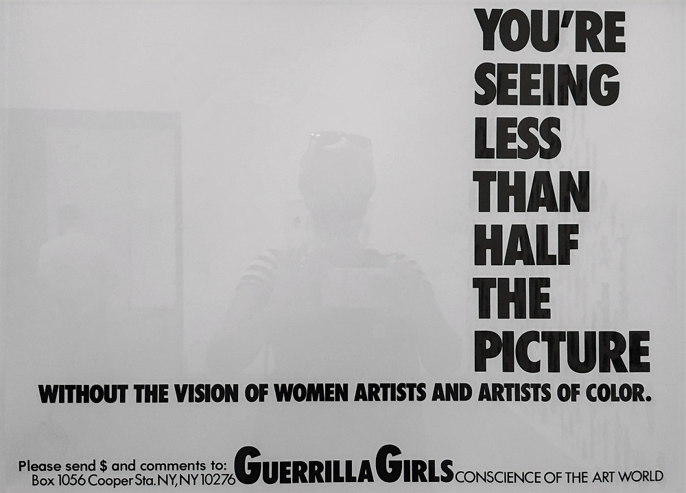 guerrilla girl poster art black and white tate modern london feminista