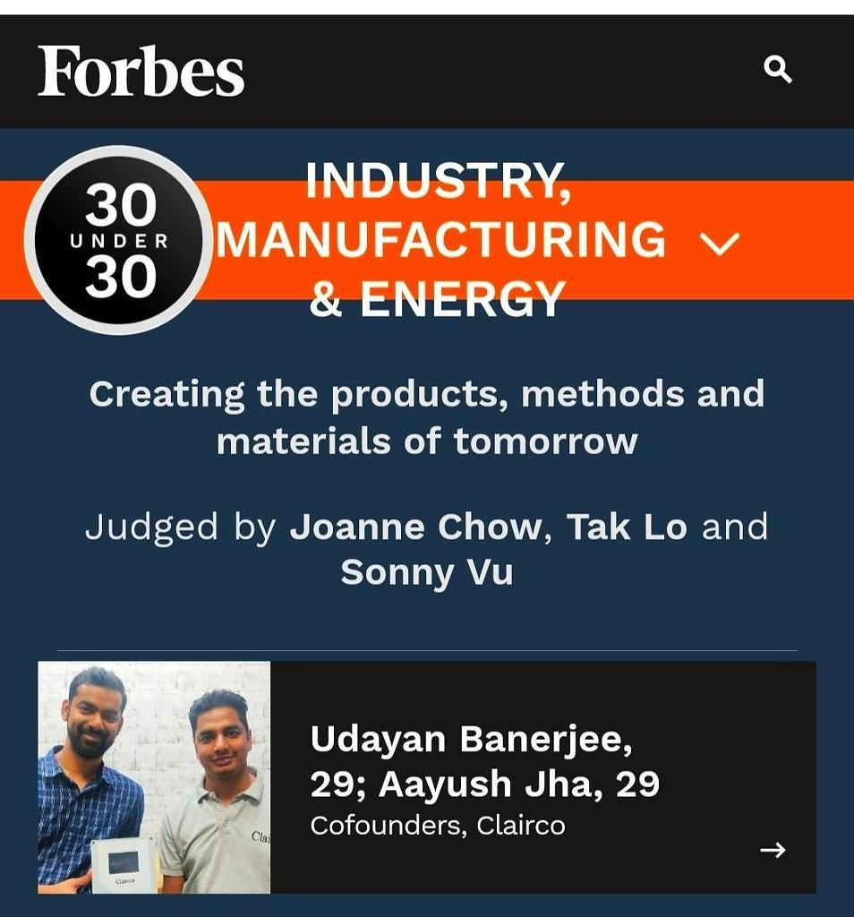 Forbes 30 Under 30 Asia 2020