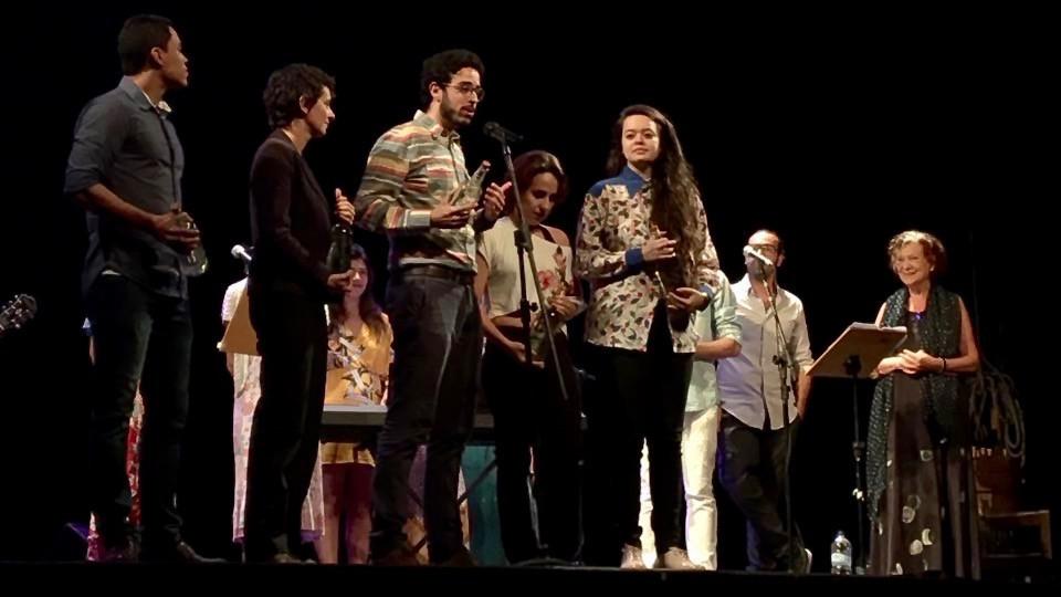 Da esquerda para a direita: Diego Reis, Raquel Tamaio, Rodrigo Carrijo, Ana Cecilia Reis, Mayara Yamada e Cecília Boal (Foto: Francisco Costa)