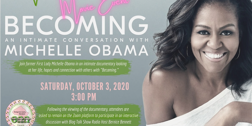 """Theta Omega Omega Chapter's Virtual Movie  Event: """"Becoming"""""""