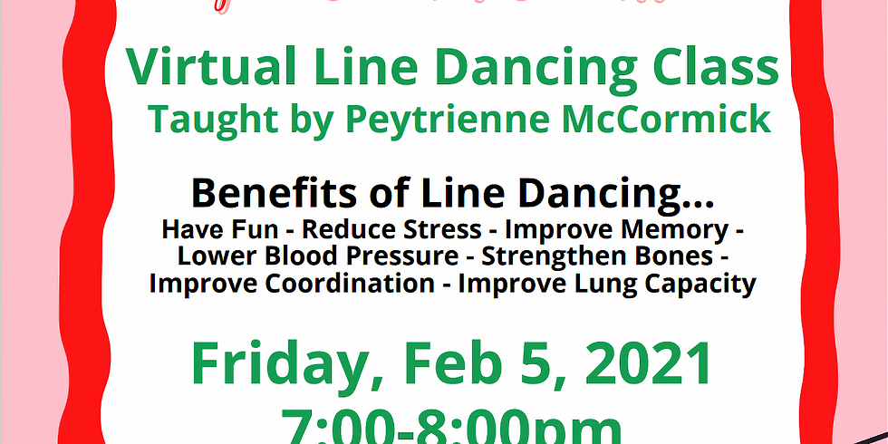 Pink Goes Red for Heart Health: Virtual Line Dancing Class