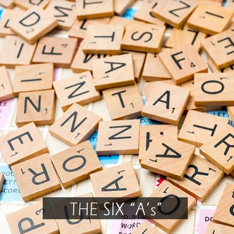 """THE SIX """"A's"""""""