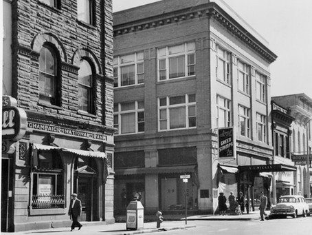 15 East Main Street - Willis Department Store, JC Penney's, and News-Gazette Headquarters