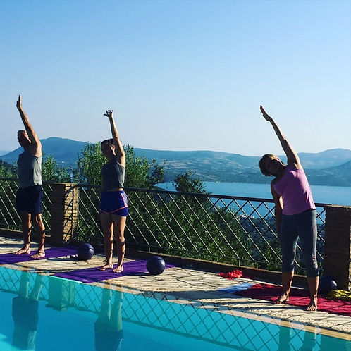 Pilates and Mindfulness by the pool