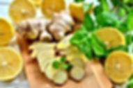 48037018-Lemons-ginger-and-mint-leaves-L